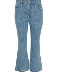 Sandy Liang - Winkle High-rise Kick-flare Jeans Mid Denim - Lyst
