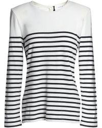 Claudie Pierlot - Striped Cotton-blend Jumper - Lyst