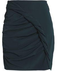 Carmen March - Gathered Crepe Mini Skirt - Lyst