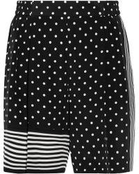 Stella McCartney - Zandra Printed Silk Crepe De Chine Shorts - Lyst