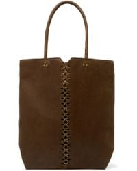 Jérôme Dreyfuss - Dario Chain-embellished Textured-leather Tote - Lyst
