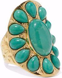 Aurelie Bidermann - 18-karat Gold-plated Turquoise Ring - Lyst