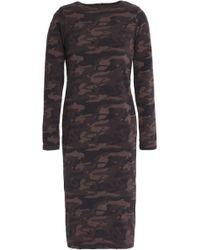 Monrow - Printed Stretch-cotton Jersey Dress - Lyst