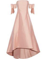 Sachin & Babi - Bengaluru Off-the-shoulder Bow-embellished Duchesse Satin-twill Gown - Lyst