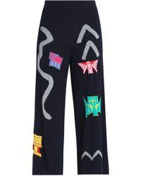 Peter Pilotto - Intarsia-knit Wool-blend Culottes - Lyst