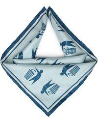 Anya Hindmarch - Keep Britain Printed Silk Scarf Sky Blue - Lyst