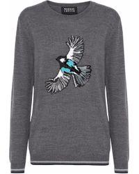 Markus Lupfer - Natalie Sequin-embellished Merino Wool Sweater - Lyst