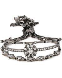 Noir Jewelry - Gunmetal-tone Crystal Bracelet - Lyst