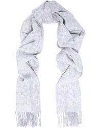 COACH - Fringed Jacquard-knit Scarf - Lyst