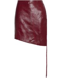 Magda Butrym - Santa Maria Woven Leather Mini Skirt - Lyst