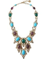 Ben-Amun - Gold-tone, Stone And Crystal Necklace - Lyst