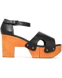 Robert Clergerie - Cevina Cutout Leather Platform Sandals - Lyst