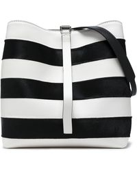 Proenza Schouler - Leather And Calf Hair Bucket Bag - Lyst