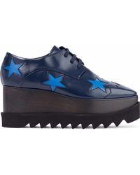 Stella McCartney - Elyse Faux Glossed-leather Platform Brogues - Lyst