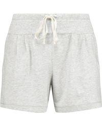 DKNY - Stretch-pima Cotton Pyjama Shorts Light Grey - Lyst