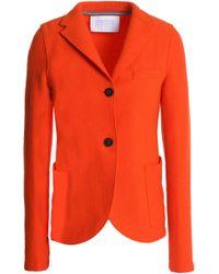 Harris Wharf London - Wool-bouclé Blazer Bright Orange - Lyst