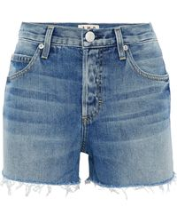 AMO - Tomboy Distressed Denim Shorts - Lyst