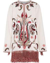 Rachel Zoe - Kayla Tasseled Embroidered Cotton-blend Matelassé Jacket - Lyst