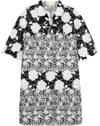 Giambattista Valli | Embroidered Tweed And Guipure Lace Jacket | Lyst