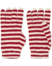 RED Valentino - Striped Knitted Gloves - Lyst