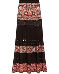 Roberto Cavalli | Jacquard And Pointelle-knit Maxi Skirt | Lyst