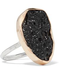 Melissa Joy Manning | 14-karat Gold, Sterling Silver And Stone Ring | Lyst