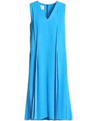 Cedric Charlier - Pleated Crepe Dress - Lyst