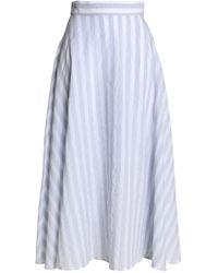 Iris & Ink - Timo Striped Cotton-blend Maxi Skirt - Lyst