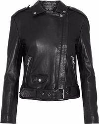 Muubaa - Leather Biker Jacket - Lyst