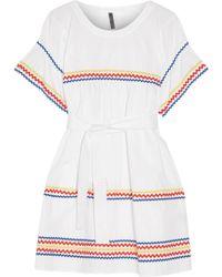 Lisa Marie Fernandez - Fiesta Rickrack-trimmed Cotton-poplin Mini Dress - Lyst