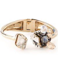 Lanvin - Gold-tone Crystal Cuff - Lyst