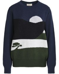 Maison Kitsuné - Printed Wool Sweater - Lyst