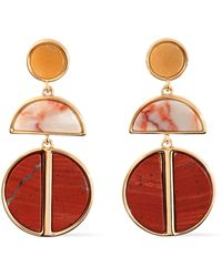Ben-Amun - Gold-tone Agate Earrings - Lyst