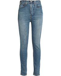 Levi's - Faded High-rise Skinny Jeans - Lyst