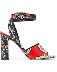 Valentino - Printed Leather Sandals - Lyst