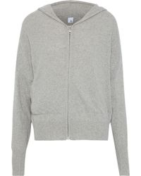 Iris & Ink - Woman Cashmere And Wool-blend Hoodie Stone - Lyst