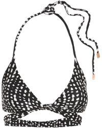 ViX - Dot Printed Wrap Bikini Top - Lyst