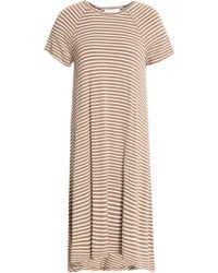 Zimmermann - Striped Stretch-jersey Midi Dress Light Brown - Lyst