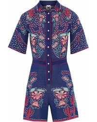 M Missoni - Jacquard-knit Cotton-blend Playsuit - Lyst