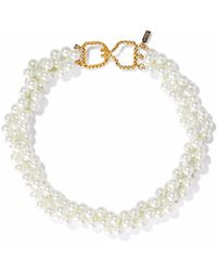 Kenneth Jay Lane - Gold-tone Faux Pearl Choker - Lyst