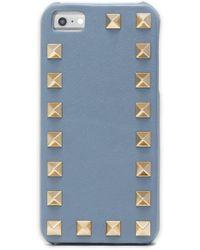 Valentino - Rockstud Textured-leather Iphone Case - Lyst