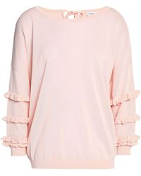Claudie Pierlot Woman Embroidered Tulle Top Baby Pink Size 38 Claudie Pierlot Clearance Best With Paypal Buy Sale Online How Much Cheap Price c7YGNuXv