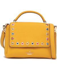 Kate Spade - Woman Madeline Devoe Street Embellished Textured-leather Shoulder Bag Saffron - Lyst
