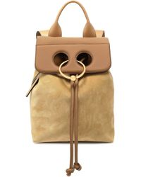 JW Anderson - Pierce Leather And Suede Backpack - Lyst
