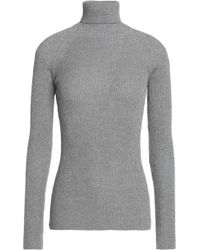 Maison Kitsuné | Ribbed Wool-blend Turtleneck | Lyst