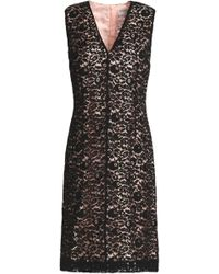 Lanvin - V-neck Fitted Lace Dress - Lyst