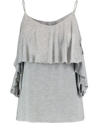 Bailey 44 - Flutter Cold-shoulder Layered Stretch-jersey Top - Lyst