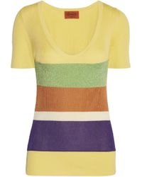 Missoni - Ribbed Cotton Top - Lyst