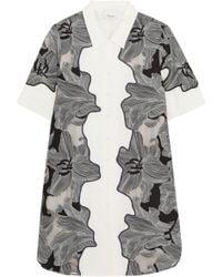 3.1 Phillip Lim - Woman Printed Mini Dress Grey - Lyst