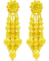 Ben-Amun - Beaded Silver-tone Earrings - Lyst